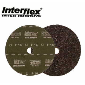 "INTERFLEX SANDING DISC CC GRADE (STONE) 4"" - 25PCS / PACK"