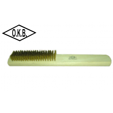 OKB BRASS WIRE BRUSH 4 ~ 8 ROW - 12PCS / PACK