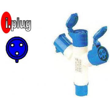 CAVICO I.PLUG IND. MULTI ADAPTOR 3P 220V IP44 (3 WAY)