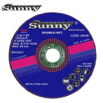 "SUNNY DOUBLE NET CUTTING DISC 4"" ( Grade : A46TBF )"