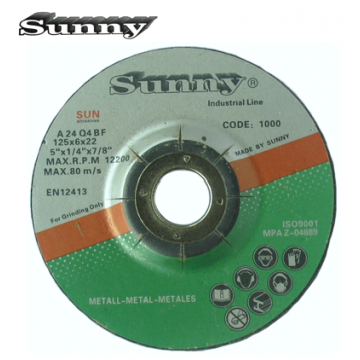 """SUNNY GRINDING DISC 4"""" TO 7"""" ( Grade : A24Q4BF )"""