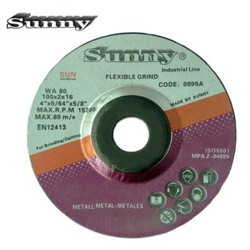 "SUNNY FLEX GRIND DISC 4"" ( Grade : WA80 & WA120 )"