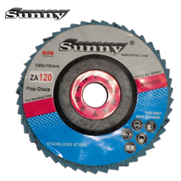 """SUNNY BLUE MOP DISC FOR STAINLESS STEEL  ( 4"""" x 16MM )"""