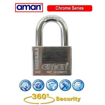 AMAN CR 360 MASTER KEYED PADLOCK SET - 50MM