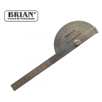 BRIAN STAINLESS STEEL PROTRACTOR