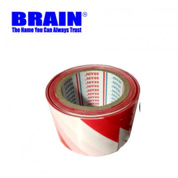 BRAIN PE WARNING TAPE - RED/WHITE