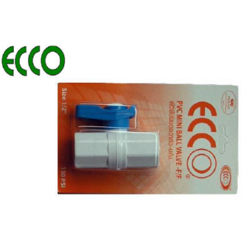 "ECCO PVC MINI BALL VALVES - 1/2"" F x F"