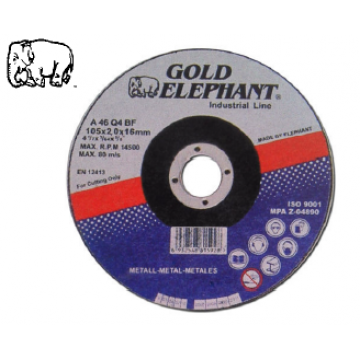 GOLD ELEPHANT METAL CUTTING DISC - Grade : A46Q4BF